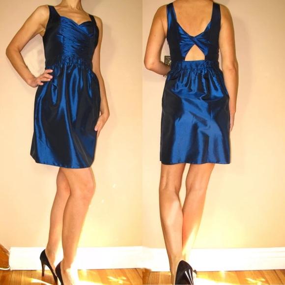 b01613735f2 Saks 5th Ave 5 48 Cutout Mini Jewel Blue Dress. NWT. Saks Fifth Avenue